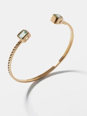 Dezso Jali Emerald & 18kt Rose-gold Cuff - Green Gold