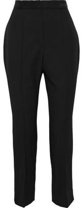 Lanvin Cropped Grain De Poudre Wool Slim-leg Pants