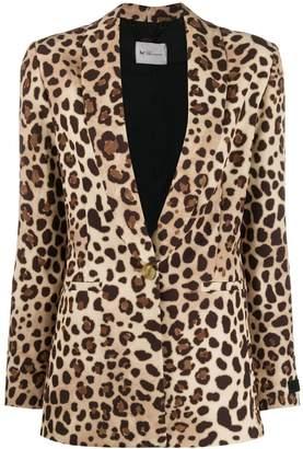 Blumarine Be Fitted Leopard Print Blazer