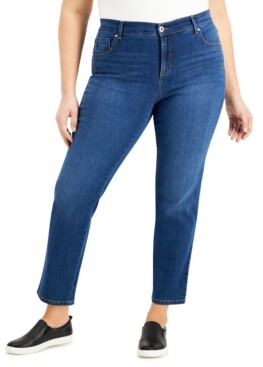 Style&Co. Style & Co Plus Size Short Length Straight-Leg Jeans, Created for Macy's