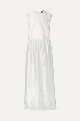 Sies Marjan Winona Washed-satin Maxi Dress - White