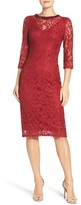 London Times L2027M Embellished Illusion Lace Dress