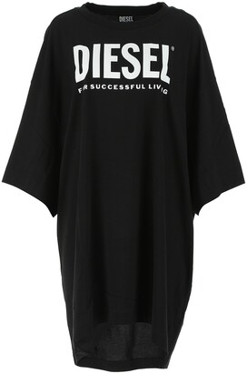 Diesel Logo Printed T-Shirt Dress