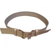 Saint Laurent Beige Leather Belt