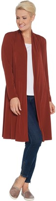 Every Day by Susan Graver Petite Liquid Knit Duster Cardigan