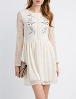 Charlotte Russe Floral Embroidery Lace Dress