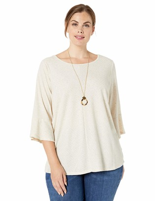 Amy Byer Women's Bell Sleeve Top