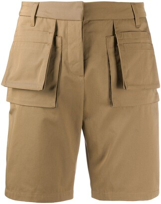 Frankie Morello Multi-Pocket Textured Shorts