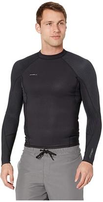 O'Neill Hyperfreak Long Sleeve Top (Black/Black) Men's Swimwear