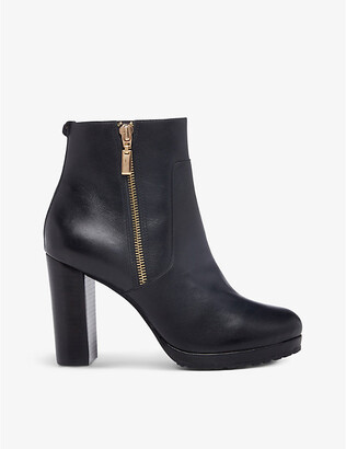 Dune Otylia leather platform ankle boots