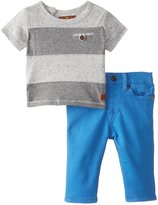 7 For All Mankind Baby-Boys Newborn Striped T-Shirt and Short