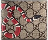 Thumbnail for your product : Gucci Kingsnake print GG Supreme wallet