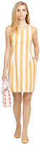 Brooks Brothers Sleeveless Square Neck Dress