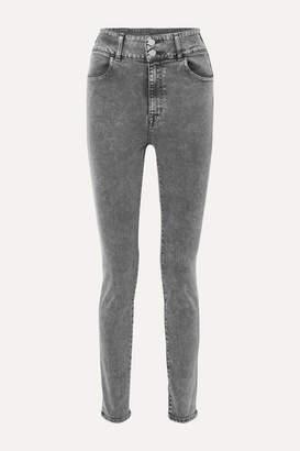 J Brand elsa Hosk Saturday High-rise Skinny Jeans - Black