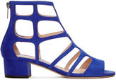 Jimmy Choo Blue Suede Ren Sandals