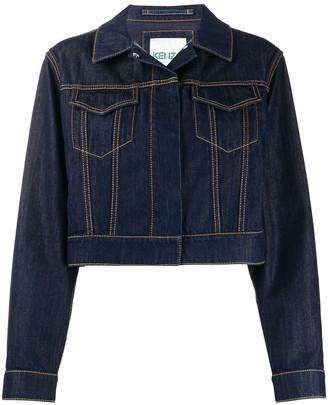 Kenzo Cropped Loose-Fit Jacket