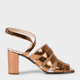 Paul Smith Women's Metallic Bronze Leather 'Asa' Heeled Sandals