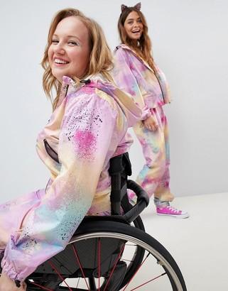 Asos Design DESIGN tie dye all in one jumpsuit-Multi