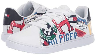 Tommy Hilfiger Iconic Court (Little Kid/Big Kid) (Multi/White) Kid's Shoes