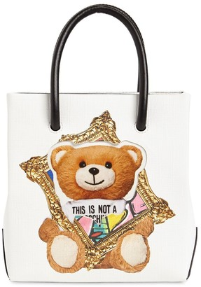 Moschino Sm Teddy Faux Leather Top Handle Bag