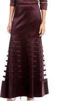 Emma Street Long Laser Cut Taffeta Skirt