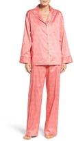 Natori Women's Fan Satin Cotton Pajamas