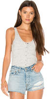 David Lerner Snap Front Tank in Gray. - size L (also in M,XS)