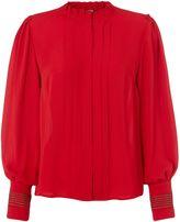 Biba Piecrust plain pleat detail blouse