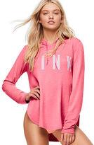 PINK Side Slit Pullover