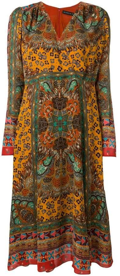 Etro nouveau western print dress
