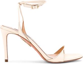 Aquazzura Minute 85 Sandal in Cream | FWRD