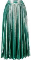 Gucci pleated metallic skirt - women - Silk/Polyester - 38