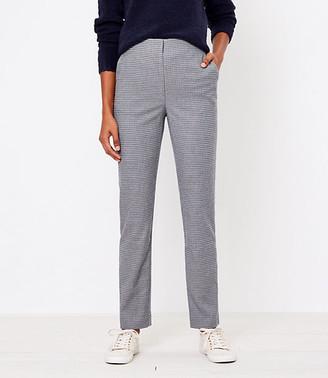 LOFT High Waist Slim Pants in Check