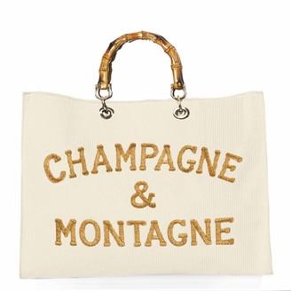 MC2 Saint Barth Velvet White Bag Champagne & Montagne