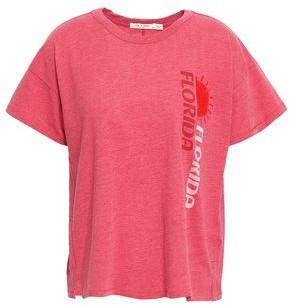 Rag & Bone Flocked Printed Cotton-blend Jersey T-shirt