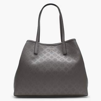 GUESS Large Vikky Taupe Slouchy Logo Tote Bag