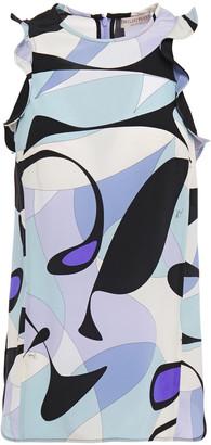 Emilio Pucci Ruffled Printed Silk Crepe De Chine Top