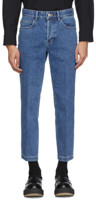 Solid Homme Blue Cropped Jeans