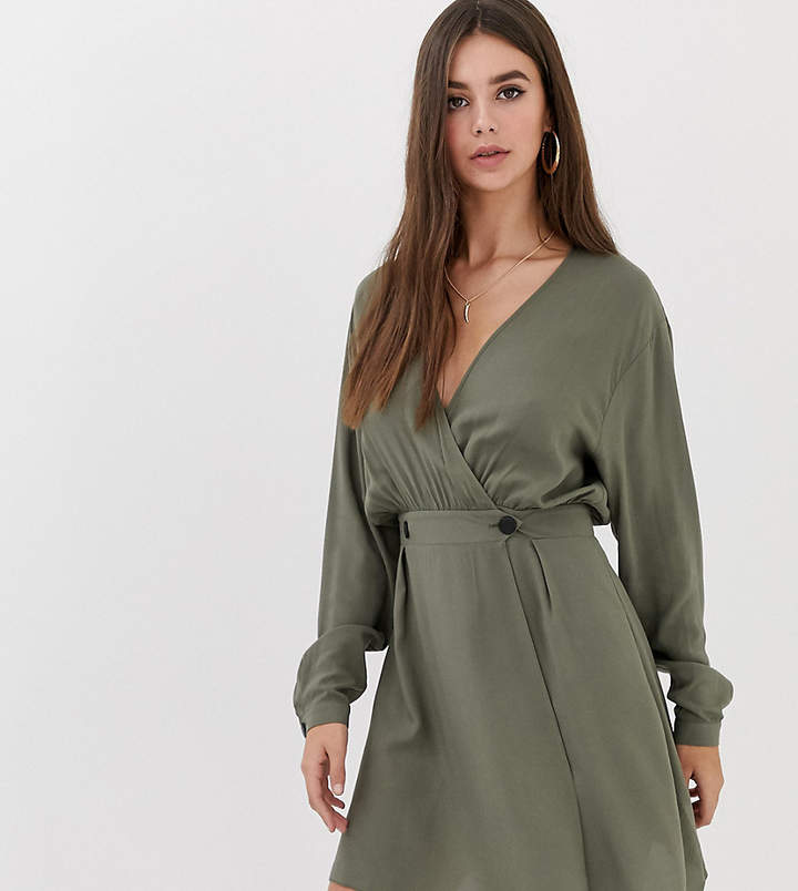 258541b52c7 Asos Green Wrap Dresses - ShopStyle