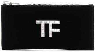 Tom Ford logo plaque clutch bag