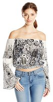 Raga Women's Smoking Rose Off-The-Shoulder Top