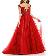 Glamour by Terani Couture Terani Couture Prom Illusion Embroidered Bodice Ball Gown