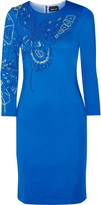 Just Cavalli Studded stretch-jersey dress