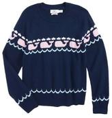 Vineyard Vines Girl's Whale Intarsia Sweater