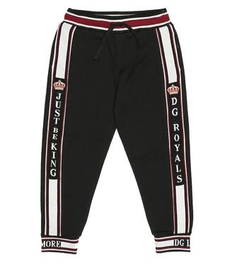 Dolce & Gabbana Kids Cotton jersey trackpants