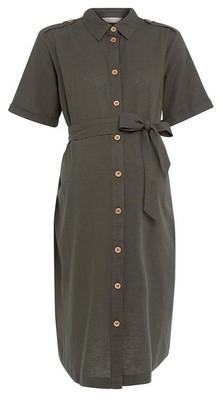 Dorothy Perkins Womens Dp Maternity Khaki Utility Dress, Khaki