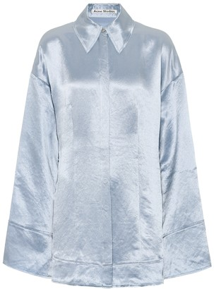 Acne Studios Oversized satin pajama shirt
