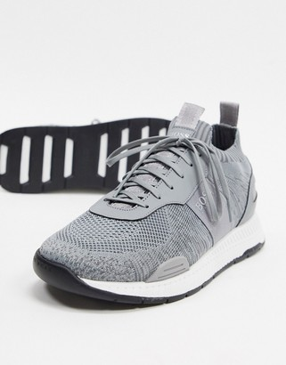 HUGO BOSS Titanium odour repellent runner sneakers in gray
