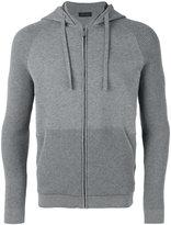 Z Zegna panelled zipped hoodie - men - Cotton - S
