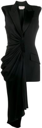 Alexander McQueen Tuxedo Style Asymmetric Dress